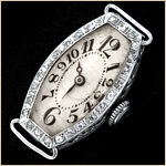 Gallet Lady's Platinum & Diamonds Wristwatch...