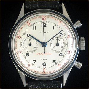 The Gallet MultiChron Decimal chronograph...