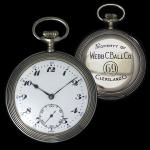 Webb C. Ball loaner (1910) - manufactured by Gallet in Switzerland, provided to American rail road conductors and engineers while their primary watches received routine servicing by Ball.